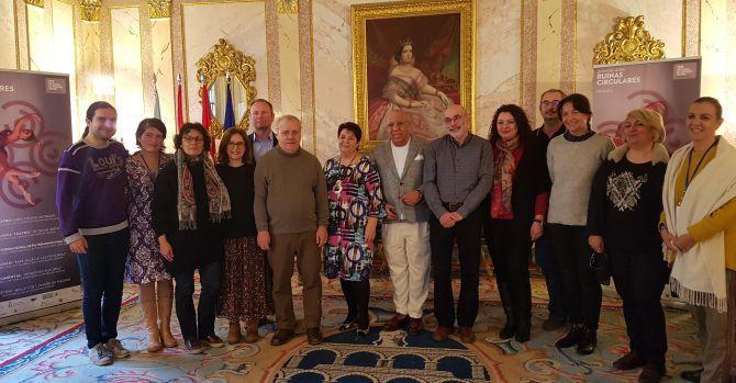 Recibimiento por la alcaldesa de Segovia de los participantes en el evento
